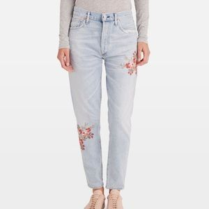 NWT Citizens of Humanity High Rise floral crop